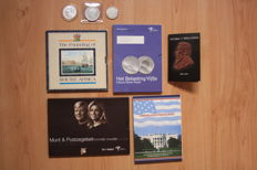 World - 10 silver coins from the Netherlands, USA, Slovakia, South Africa