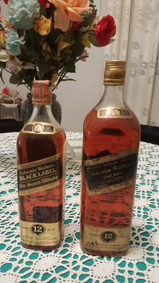 2 bottles -Johnnie Walker black label 12 years old