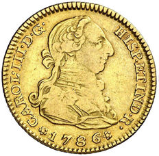 Spain - Carlos III - 2 Gold Escudos - 1786 - Madrid