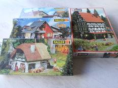 Faller/Revell H0 - 131224/-225/-233/2026 - Three villas and a half-timbered house with pharmacy