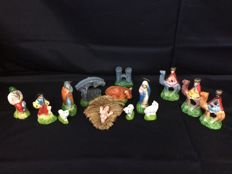 Handmade Nativity Set - Ca 1950 - Portugal