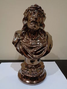 Silvery bust of Jesus Christ Nazarene - Spin - 20th century