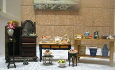 Doll house furniture and accessories antiques and vintage