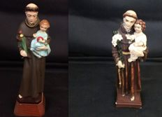 2 - HandMade Santo António Sculptures - From St Anthony Church in Estoril, Portugal - 1950/1970
