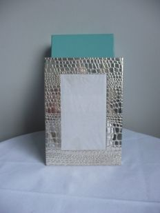 Tiffany & Co. Photo frame, Alligator print, USA, modern