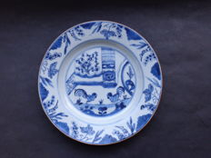 Rooster plate Qianlong, 18th century China