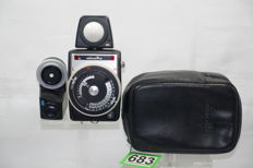 Minolta professional auto light meter with bag