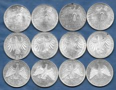 "Germany - 12 x 10 Deutsche Mark 1972 ""Olympic Games 1972 Munich"" - silver"