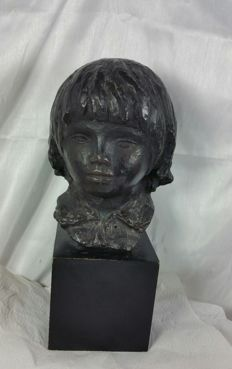 Pierre Renoir (after) - Head of Coco - authorized edition SPADEM made from the original in the Detroit institute of arts.