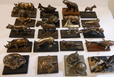 20 WMF heavily silver-plated figurines