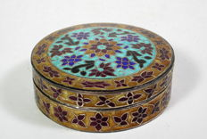 Small container with lid Silver, enamel - Multan, Pakistan - end of the 20th century