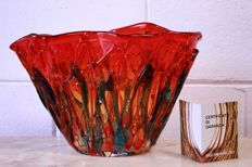 "Sergio Costantini - ""Fire"" vase (37 cm) with signature and certificate"