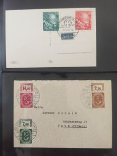 Federal Republic of Germany letter collection from 1949 in 2 albums