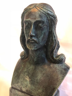 Bronze sculpture of a religious icon