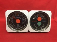 Kenneth Grange - Vintage Aeronautical Thermometer Humidity Gauges