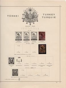 Turkey 1863/1931 - collection on old album pages