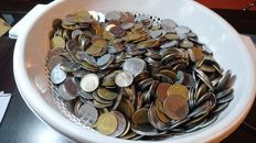 Italian Republic - Lot of 10 kg of coins