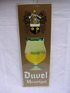 Original advertising sign - Duvel moortgat - 1988 - Group Otten plastic Brussels -plastic-coated tin on cardboard