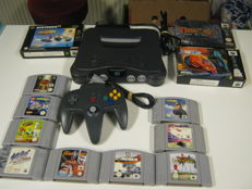 Nintendo 64 including 12 original games,three off them are boxed like: Wave Race, XG2 , Turok 2 and more