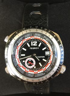 TEGROV AVIATION Worldtimer - T23765 - Heren - 2000-2010