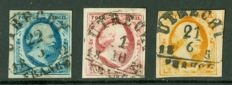 The Netherlands 1852 - King Willem III - NVPH 1/3 with semi-circular cancellation Utrecht B