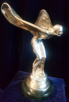 British made Rolls Royce  silver Spirit of Ecstasy flying lady (STATUE) 1.927kg