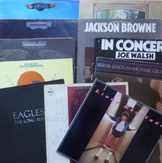 The Eagles, friends and family in 12 albums; The Eagles (5), Jackson Browne (2), Linda Ronstadt (2), Joe Walsh in Concert, Don Henley and Bernie Leadon