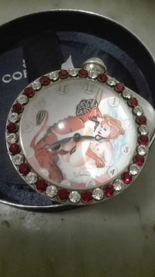 Corum 'The hours of love' erotic table clock