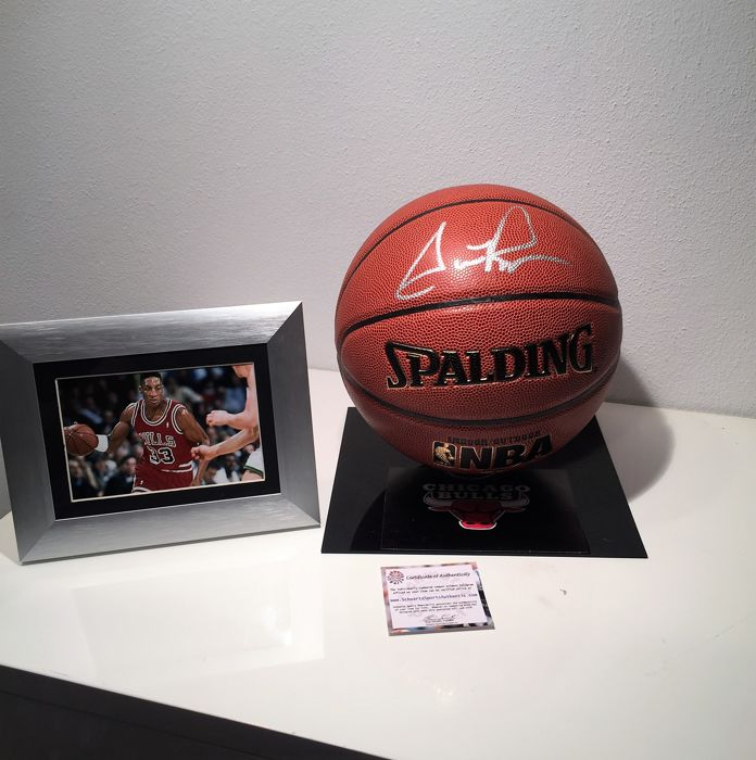 Scottie Pippen - 1992 Olympics Dream Team USA Basketball and Chicago Bulls - original autographe JSA