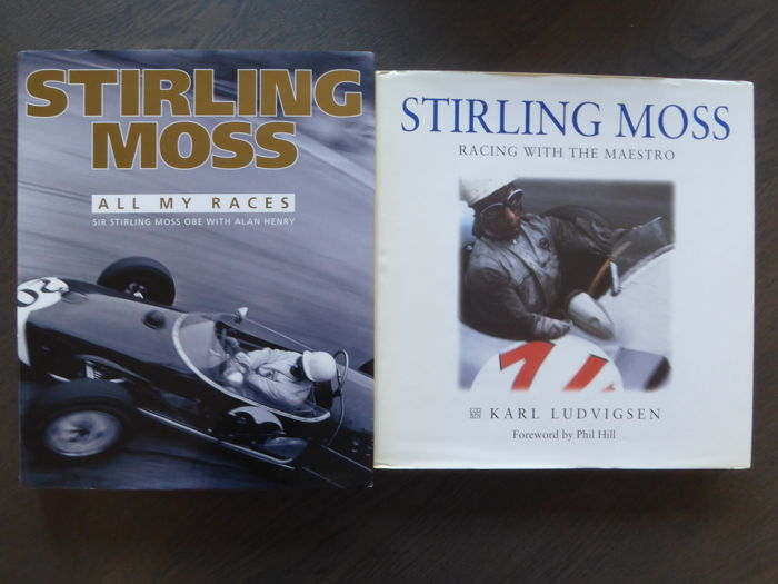 Boeken - Lot; 2 Books on Stirling Moss All my races and Racing with the maestro - 1997-2009