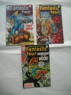 Fantastic Four #93, 96 & 98 - Marvel Comics - Final Silver Age Issue - X3 SC - (1969/1970)