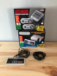Super Nintendo Classic Mini Snes + Nintendo Classic Mini Nes  + 1 Controller Mini Nes + 1 extension cable for controller