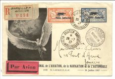 France 1927 - cancelled LP Yvert 1/2 on FDC