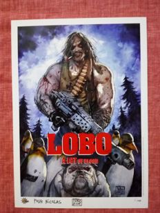 Niko Henrichon - Rare Lobo A4 Limited Edition Print - Only 150 Produced - Numbered And Signed