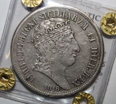 Kingdom of the Two Sicilies - Piastra of 120 Grana, 1818 from the 1st edition. Ferdinando I - Silver