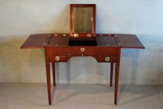 A Lodewijk XVI mahogany wooden poudreuse - the Netherlands - circa 1775/1785