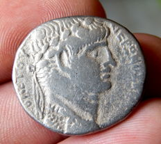 Roman Empire - Provincial - Nero AR Tetradrachm of Antioch, Syria - Regnal year 8, Caesarian year 110 = 61/62 AD.