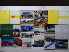 1999 - 2010 - MAZDA MX-5, 323 MPS, RX-8, 6 MPS Concept car, Sassou, Kabura, Neospace & Nextourer concept cars, etc - Mixed lot of 7 Press Information kits and 18 Press photos