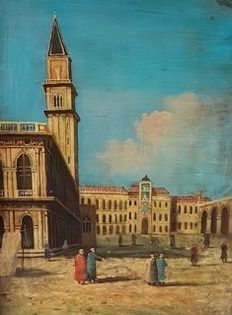 Unknown artist - Venice, St Mark's Square (1917)
