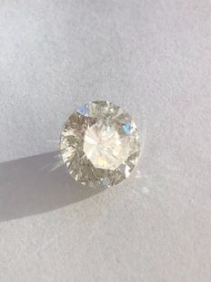 5.18 ct Round brilliant, natural diamond - I - SI1