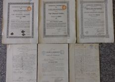 6x Municipality Dommelen - 1901 - 1909 - 1919 - 1921 - 1922 - 1923 (small editions  10 - 60 items)