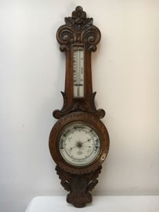 J. Brown Glasgow Aneroid Wheel Barometer - Scotland - late 19th century