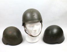3 Spanish Helmets Model Trubia 1921 Without Wings. Also Called Trubia 26/30 Without Wings.