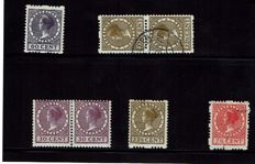 The Netherlands 1925/1938 - Selection of varieties and plate flaws, among others on syncopated perforation