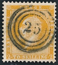 Norway 1855/1857 - Norwegian skilling stamps Norgeskatalogen 1/5