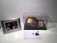 Anthony Joshua Signed Gold Lonsdale Boxing Glove In Display Case