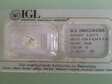 1.23 ct oval cut diamonds G SI1
