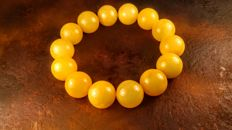 Vintage Egg yolk colour modified Baltic Amber bracelet, 32 grams