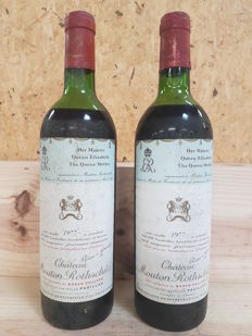 1977 Chateau Mouton Rothschild, Pauillac 1er Grand Cru Classé - 2 bottles