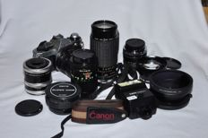 "Camera ""Canon AE-1Program"" with lenses from various periods - 1981"
